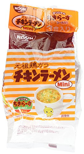 Nissin Chicken Ramen Mini, Japanese Ramen Noodle 1pack(3pccs) (1packs) (Nissin Chicken Ramen compare prices)
