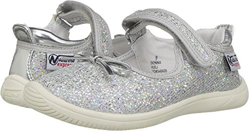 Naturino Express Baby Girl's Donna (Toddler/Little Kid) Silver 11 M US Little Kid - Kid Express Girls Mary Janes