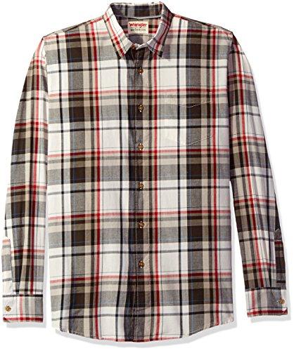 Wrangler Men's Authentics Long Sleeve Premium Plaid Shirt