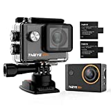 Action Camera ThiEYE i60+ 4k WiFi Waterproof Ultra HD Sports Action cam, DV Camcorder,2 inch LCD Screen, 170 Degree Wide Angle Lens with Batteries(2-Pack) and Accessories Kit