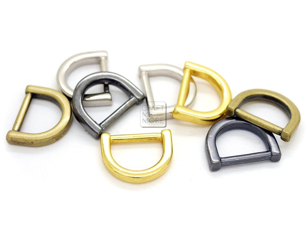 1//2 Inch, Antique Brass CRAFTMEmore D Rings Tiny Flat Metal D-ring Heavy Duty Purse Findings 25 pcs