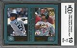 #3: 2001 topps traded #t99 ICHIRO SUZUKI/ALBERT PUJOLS rookie card BGS BCCG 10 Graded Card