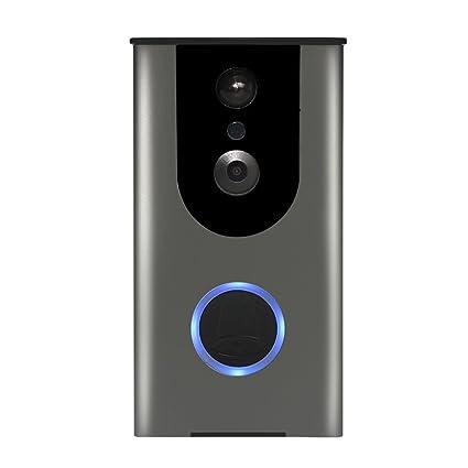 Baoblaze Timbre Video de WiFi Sensor de Movimiento Avanzado Cámara HD con Ángulo de Visión de