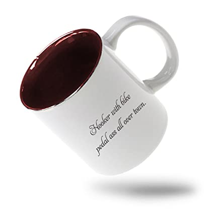 Style In Print Hooker With Bike Pedal Ass All Over Town Coffee Tea Ceramic Inner Color