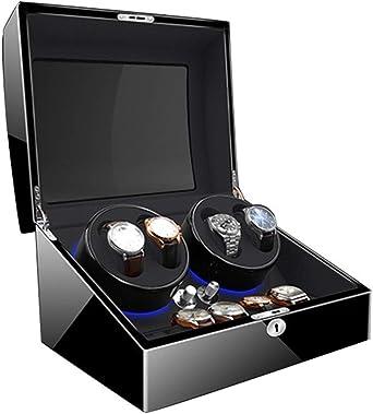QLL Estuche Bobinadora para Relojes Caja para Relojes Vitrina Movimiento Relojes Watch Winder 4+6, Iluminación LED 4 Modos De Rotación Caja Giratoria para Reloj (Color : B(4+6)): Amazon.es: Relojes
