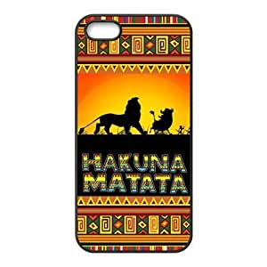 iPhone 5S Case, iPhone 5 Case, Hakuna Matata TPU Fashion Case for iPhone 5S and iPhone 5 Cover Screen Protector