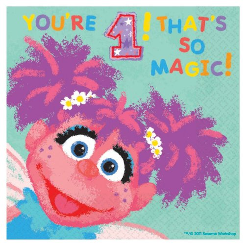Abby Cadabby 1st Birthday Large Napkins (36ct) by Amscan