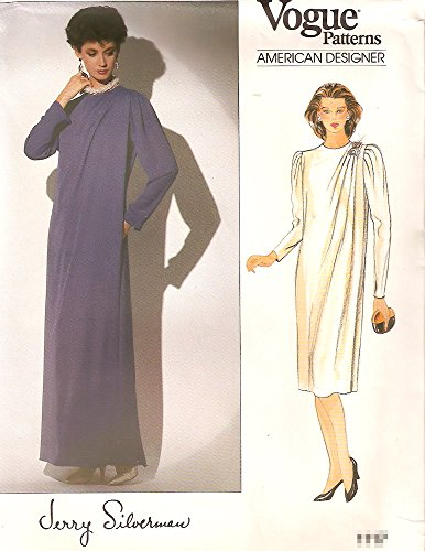 Vogue Jerry Silverman vintage sewing pattern 1117 Grecian drape evening dress - Size 14