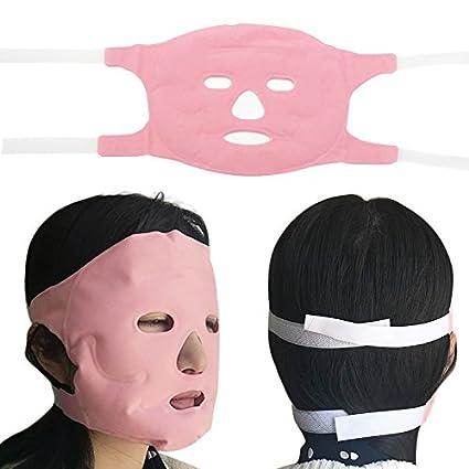 Mascarilla facial magnética para adelgazar la belleza, masaje de grasa, quemar la cara máscara