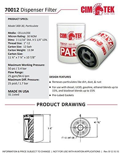 Cim-Tek 70012-12 300-30 Spin-On Filter Particulate 12-Pack by Cim-Tek (Image #2)