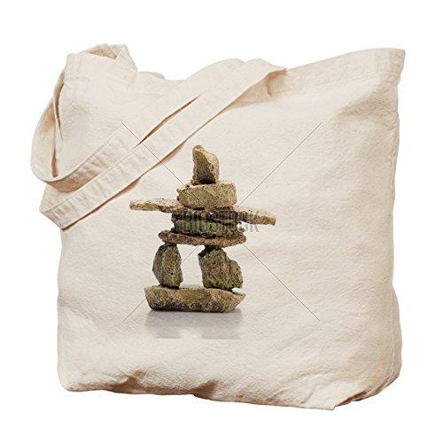 CafePress–Inukshuk estatua–Gamuza de bolsa de lona bolsa, bolsa de la compra