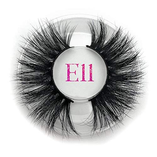 25mm Long 3D E01 extra length False Eyelashes Big dramatic volumn eyelashes strip individual false eyelash,E11 round case