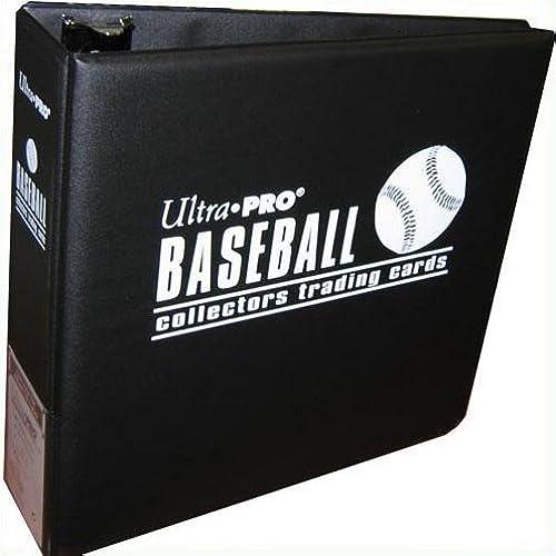 Ultra Pro Black Baseball Card Notebook 3 Inch D Ring Binder