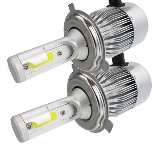 Car Fog light - Jushye 2 Pcs 100W H3 LED bulb 20 SMD Car Fog light 12V ~ 24V 360 Degrees White For Replacement signal, turn, brake, parking, tail, DRL, and fog lights, etc. (Chameleon Outdoor Wall Bracket)