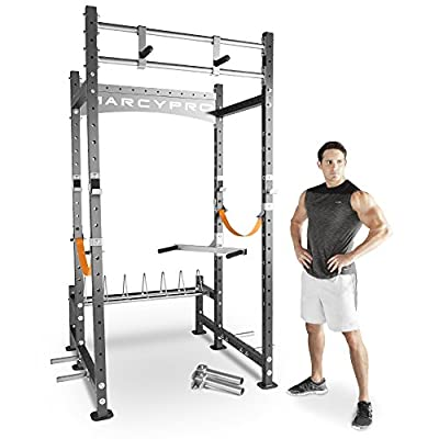 Marcy Pro Heavy-Duty Home Workout Gym Pull Up Weight Training Fitness Power Rack