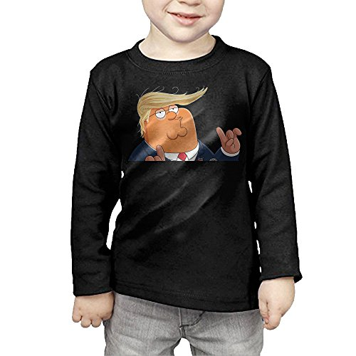 guy-mocks-donald-trump-as-dumb-loudmouth-childrens-pullover-long-sleeve-t-shirt-3-toddler