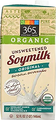 365 Everyday Value, Organic Soy Milk, Unsweetened, 32 fl oz