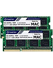 Timetec Hynix IC 16GB Kit (2x8GB) DDR3L 1600MHz PC3L-12800 SODIMM Memory Compatible with Apple MacBook Pro13-inch/15-inch Mid 2012, iMac 21.5-inch Late 2012/ Early/Late 2013, 27-inch Late 2012/2013, Retina 5K Display Late 2014/ Mid 2015, Mac Mini Late 2012 (16GB Kit (2x8GB))