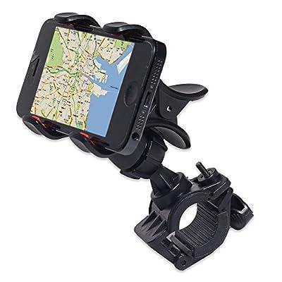 Gocomcom Bike Mount, Honbay Clip-Grip Handlebar Bike Mount Holder Stand for Smart Mobile Phones,iPhone 6s plus/6s/iPhone 6 plus/6/iPhoneSE/5/4S/4/note 5/Note 4/Galaxy s7/s6/s5/etc, GPS Devices