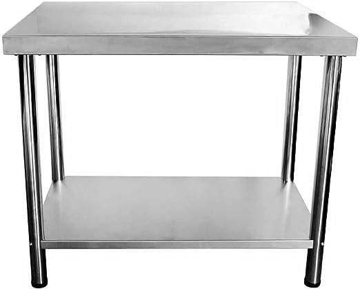 Acero inoxidable V2 A mesa auxiliar para mesa de hostelería ...