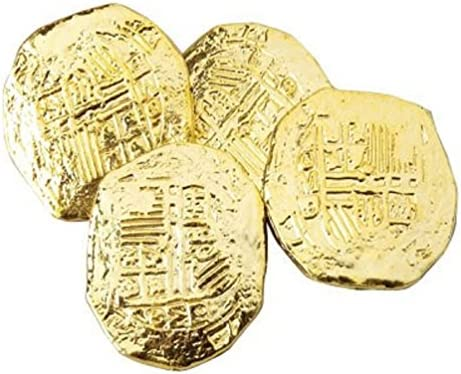 picture of US Toy -Ancient Pirate Coins, 1 1/2 inches (1