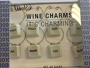 Wild Eye Designs Ctrl Alt Del Wine Charms