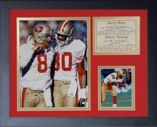"""Legenden Sterben Nie """"Jerry Reis und Steve"""" Young gerahmtes Foto Collage, 11 x 35,6 cm von Legends Never Die"""