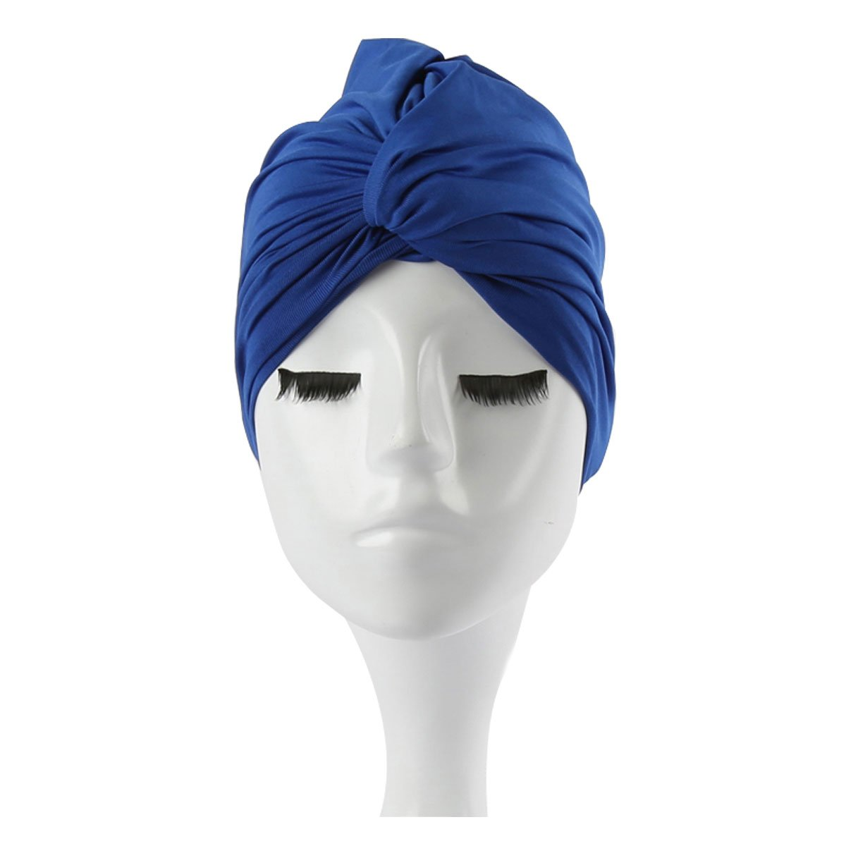 Eforstore Women Comfortable Pure Color Oversized Swimming Cap Bathing Cap For Long Hair
