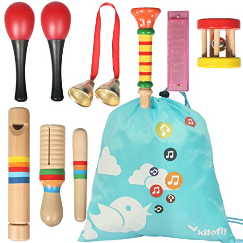 kilofly Kids Mini Band Musical Instruments Rhythm Toys Value Pack [Set of 8] by KF baby