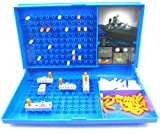 Warship Games for Children and Adults Net4Client Classic Board Games Toy Battle Ship for Kids Battleships Grid 2 Player Board Games