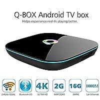 AKASO Q-Box 4K UHD 3D 2GB SDRAM + 16GB eMMC, Android TV box Amlogic S905 Quad...