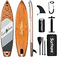 Surfwave Inflatable Paddle Board, 11'33'' Stand up Paddle Board W/Camera Mount, 5L Waterproof Bag, Lea