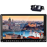 Newest Car Stereo In Dash 7 Android 4.4 Capacitive Touchscreen Car DVD Player Bluetooth mirror Linking with cellphone FM/AM Radio Wifi Car GPS Navigation +Free Back Camera