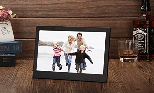 (Electronic Photo Album Celendi Ultra-Thin Narrow Bezel HD 10 Inch Digital Photo Frame Electronic Photo Album)