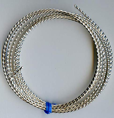 18 Gauge Twisted Square Wire Silver Plated Copper 8 Feet