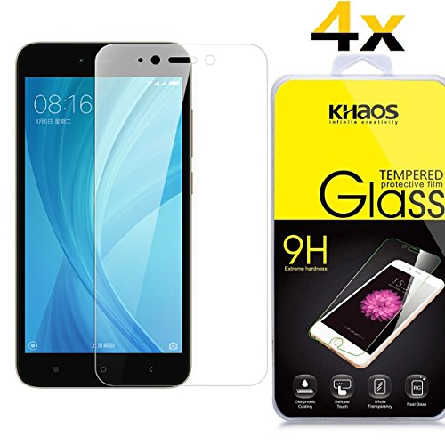 [4 Pack] Khaos For Xiaomi Redmi Note 5 HD Clear Tempered Glass Screen Protector with Lifetime Replacement Warranty