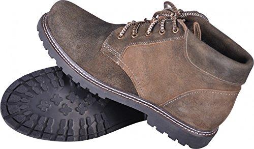 Almwerk Herren Trachten Bergschuh Wanderschuh Z101 in verschiedenen Farben, Schuhgröße:EU 43 - US 9.5 - Fußlänge 27.6 cm;Farbe:Braun