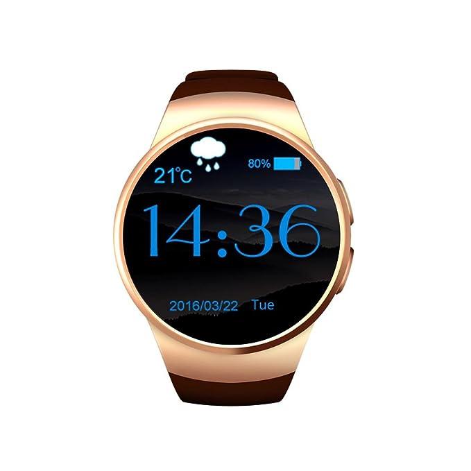 Cámara de Bluetooth Smart muñeca reloj teléfono SIM/TF tarjeta inteligente salud muñeca reloj podómetro