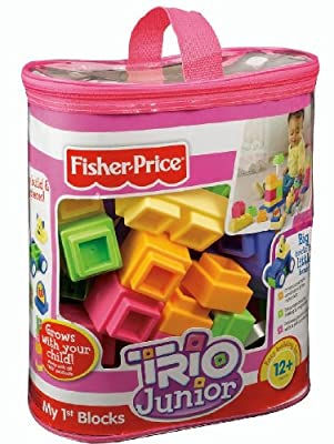 Fisher-Price TRIO Junior My First Blocks - Pastel Colors by Fisher-Price