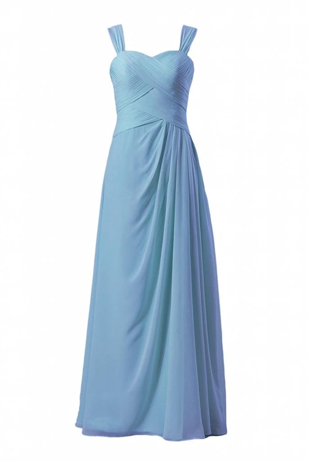 DaisyFormals Long Chiffon Evening Dress Elegant Formal Dress Bridal Party Dress w/Straps(BM732)