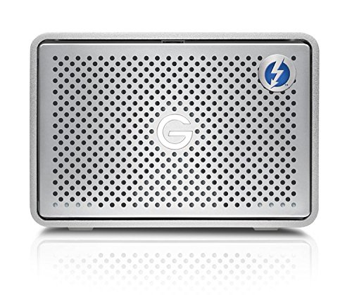 G-Technology 24TB G-RAID with Thunderbolt 3, USB-C (USB 3.1 Gen 2), and HDMI, Removable Dual Drive Storage System, Silver - 0G05768