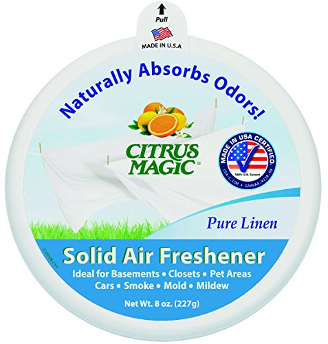 Citrus Magic Pure Linen Absorb Odor Solid Air Freshener, 8 Ounce -- 6 per case.