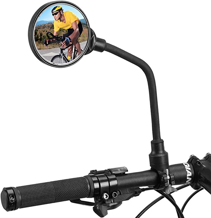 DRCK HROS Bike Mirror Rotatable and Adjustable Wide Angle Rear View Shockproof Convex Mirror Universal for Bike Bicycle Electric Bike Motorcycle