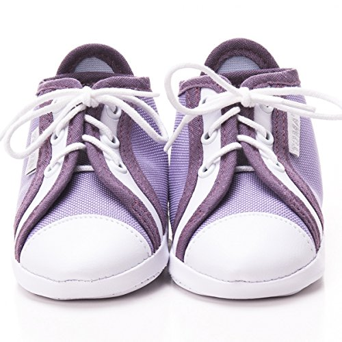 Toma - Patucos de raso para niño lila, morado