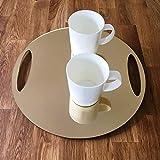 Round Flat Serving Tray - Gold Mirror