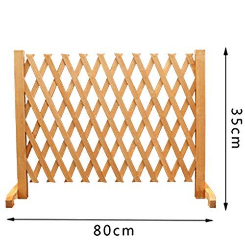 JIANFEI-weilan Garden Fence Screen Animal Guardrail Garden Decoration Plant Climbing Frame Can Stretch, 5 Sizes,4 Colors (Color : Brass, Size : 80x35cm)