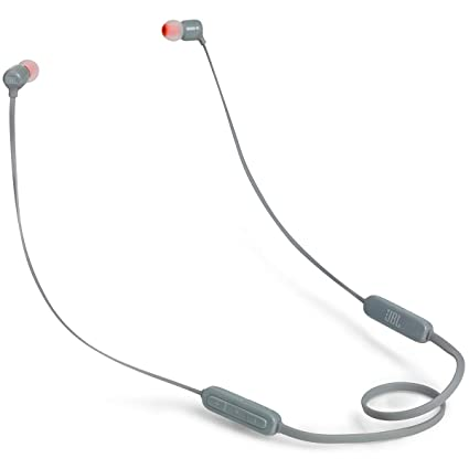 JBL T110BT Pure Bass Wireless in-Ear Headphones with Mic (Gray)
