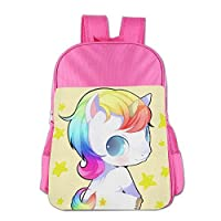 Gibberkids Children Unicorn Baby Rainbow Cartoon Cute School Bag Bookbag Boys/Girls For 4-15 Years Old Pink