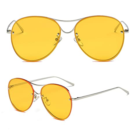 fdff26eb1e03 Image Unavailable. Image not available for. Color  Hukai Hot Retro Fashion  Big Style Women s Vintage Shades Oversized Designer Sunglasses ...