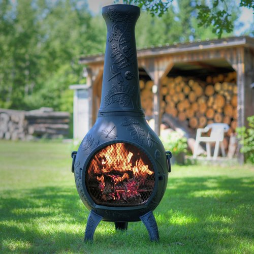 Fire Pits Chimineas: The Blue Rooster Dragonfly Chiminea In Charcoal